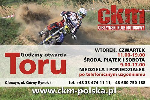 Godziny otwarcia toru motocrossowego Cieszyn-Boguszowice