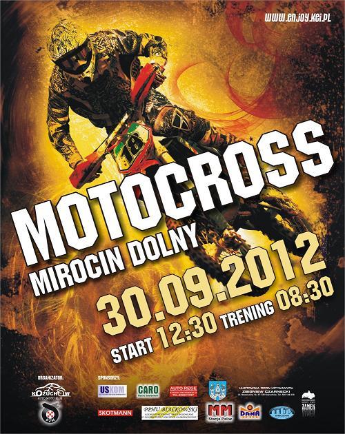 X RUNDA MISTRZOSTW STREFY POLSKI ZACHODNIEJ W MOTOCROSSIE 2012