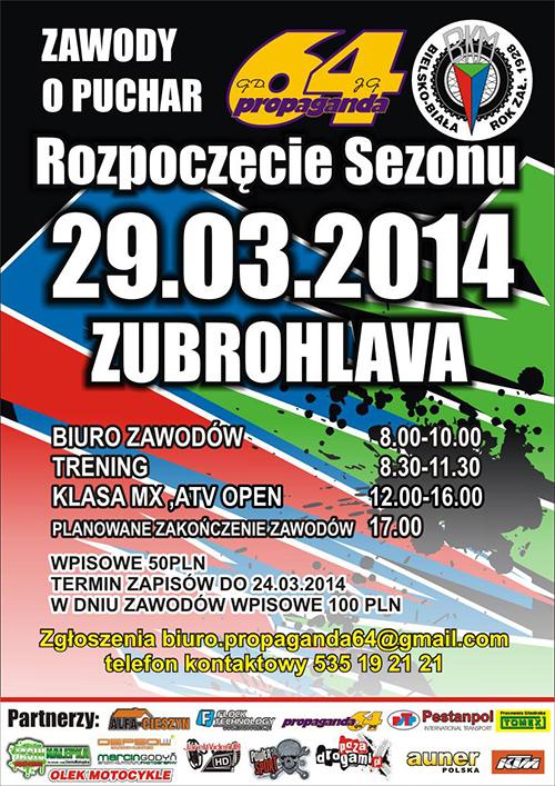 Rozpoczęcie sezonu 2014 z BKM - Zubrohlava