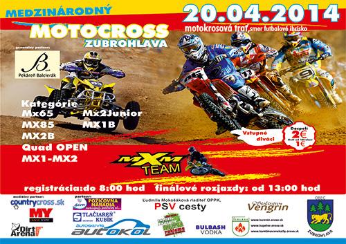 Międzynarodowe zawody MX - 20.04.2014 - Zubrohlava