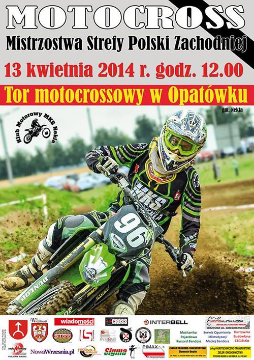 I runda - Mistrzostwa Polski Strefy Zachodniej MX 2014