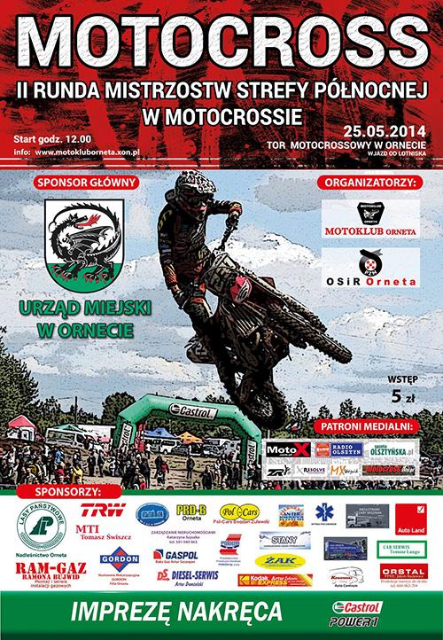 II runda - Mistrzostwa Strefy Północnej Motocross 2014