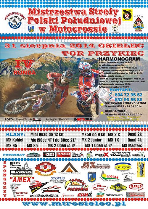 IV runda Mistrzostw Strefy Południowej MX 2014