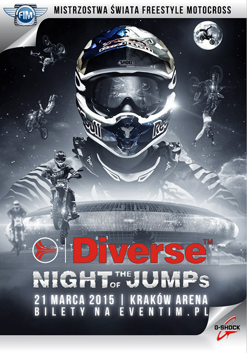 Diverse NIGHT of the JUMPS 2015 - Mistrzostwa Świata we Freestyle Motocrossie - KRAKÓW