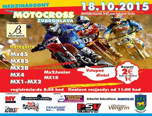 Międzynarodowe zawody MX - Zubrohlava - 18.10.2015