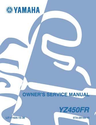 Yamaha YZ450FR - Serwisowanie - Instrukcja obsługi - 2003