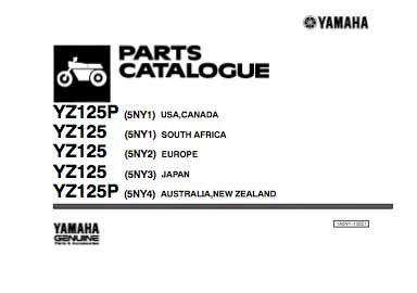 Yamaha YZ125 katalog części - 2001