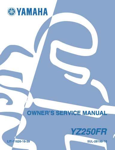 Yamaha YZ250FR – Serwisowanie – Instrukcja obsługi - 2003